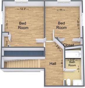 4074 B Skiff Upstairs 3D